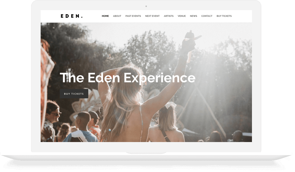 Copy and Code Portfolio Eden Experience Mock Up